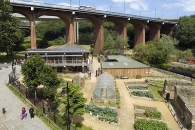 Ouseburn Farm Below Byker Bridge, Newcastle Upon Tyne, Tyne and Wear, Uk