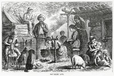 """""""Out-Door Life"""", Illustration for a Feature Story, 'A Community of Outcasts', from 'Appleton's…--Giclee Print"""