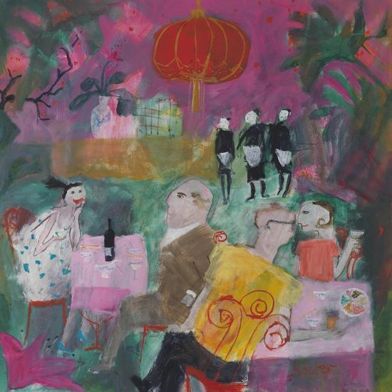 Out for a Chinese, 2011-Susan Bower-Premium Giclee Print
