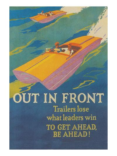 Out in Front, Racing Speedboats--Art Print