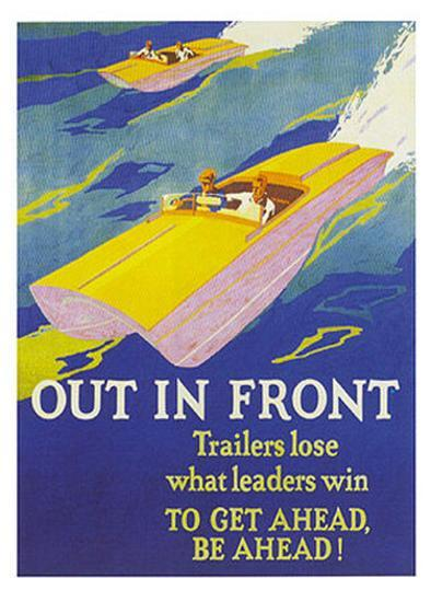 Out in Front--Art Print
