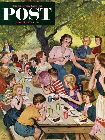 """""""Out of Ice Cream"""" Saturday Evening Post Cover, June 27, 1953-Amos Sewell-Giclee Print"""