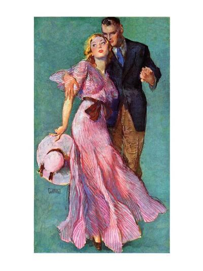 """Out on a Date,""July 14, 1934-John LaGatta-Giclee Print"