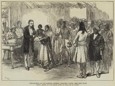 Out-Patients at the Sassoon General Hospital, Poona-William 'Crimea' Simpson-Giclee Print