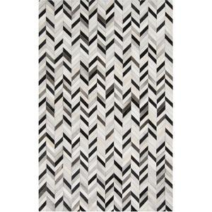 Outback Area Rug - Black/Light Gray 5' x 8'