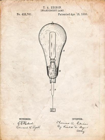 Outboard Motor Patent Art-Cole Borders-Art Print