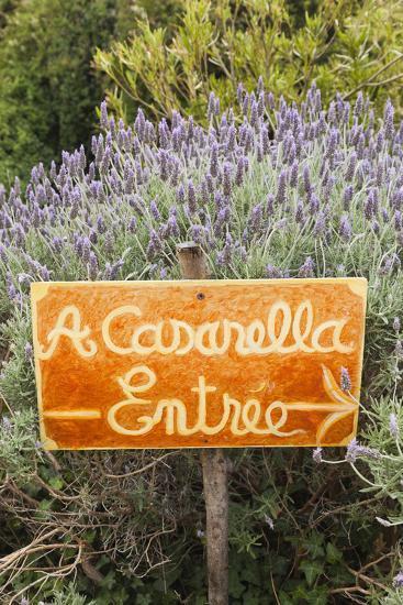 Outdoor Bar Sign, Pigna, La Balagne, Corsica, France-Walter Bibikow-Photographic Print