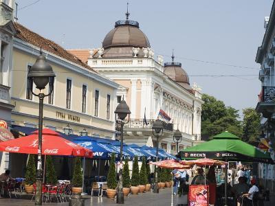 Outdoor Cafes on Kneza Mihailova Pedestrian Boulevard, Belgrade, Serbia-Christian Kober-Photographic Print