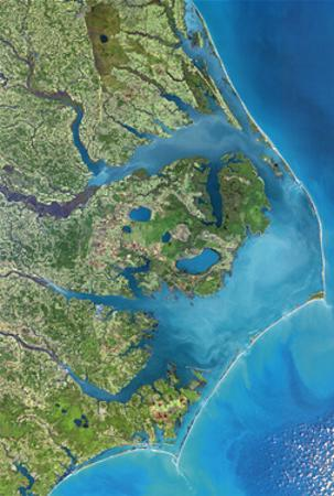 Outer Banks, NC from Space   - ©Spaceshots