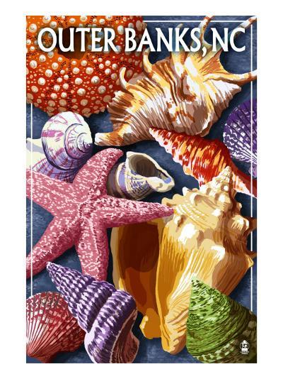 Outer Banks, North Carolina - Shells-Lantern Press-Art Print