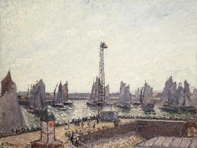 Outer Harbour and Cranes, Le Havre-Camille Pissarro-Giclee Print