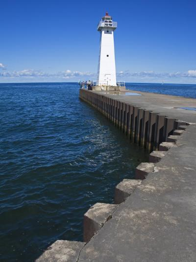 Outer Sodus Lighthouse, Greater Rochester Area, New York State, USA-Richard Cummins-Photographic Print
