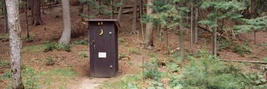 Outhouse in a Forest, Adirondack Mountains, New York State, USA--Photographic Print