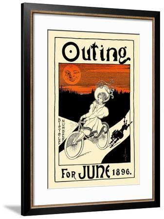 Outing Bicycle Number For June 1896-G.F. Scotson-Clark-Framed Art Print