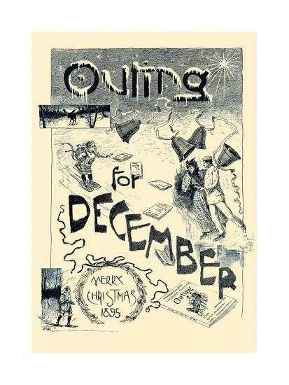 Outing For December. Merry Christmas 1895--Art Print