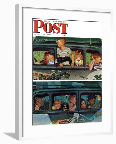 """""""Outing"""" or """"Coming and Going"""" Saturday Evening Post Cover, August 30,1947-Norman Rockwell-Framed Giclee Print"""