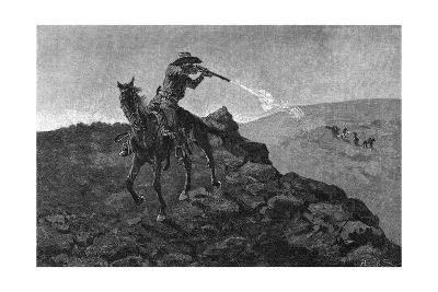Outlaw in the American West-Frederick Remington-Giclee Print
