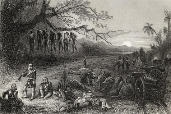 Outlying Picket of the Highland Brigade at Benares, from 'The History of the Indian Mutiny'…--Giclee Print