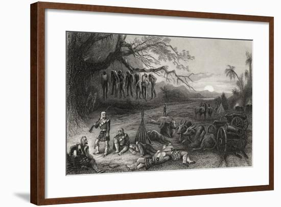 Outlying Picket of the Highland Brigade at Benares, from 'The History of the Indian Mutiny'…--Framed Giclee Print