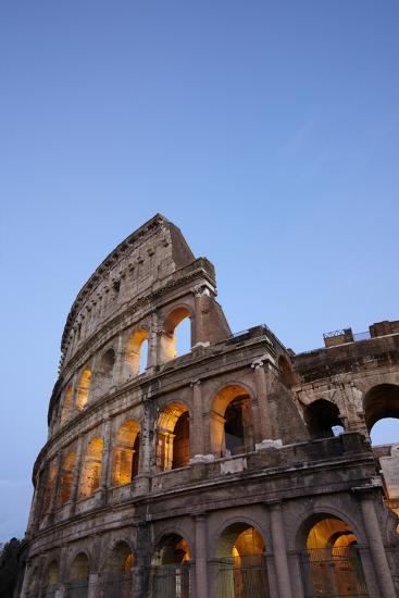 Outside Rome's Colosseum At Dusk-Dave Yoder-Photographic Print