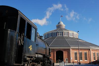Outside the Historic Roundhouse--Photographic Print