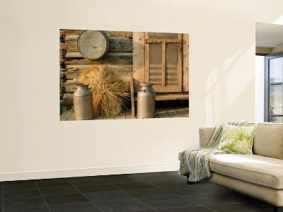 Outside the Kitchen, Ronald V. Jensen Historical Farm, Cache Valley, Utah, USA-Scott T^ Smith-Wall Mural