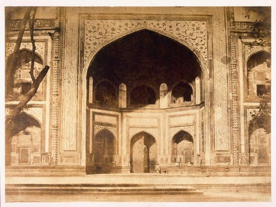Outside the Taj Mahal, 1858-John Murray-Giclee Print