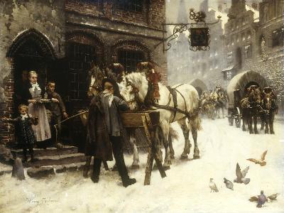 Outside the Village Inn-Harry Jochmus-Giclee Print
