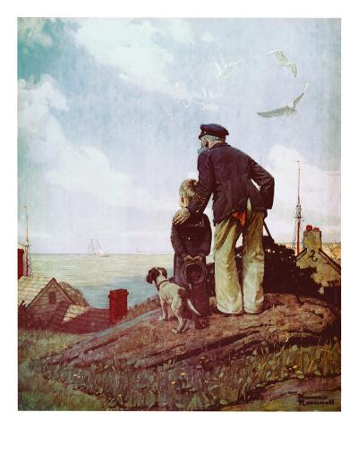 Outward Bound-Norman Rockwell-Art Print