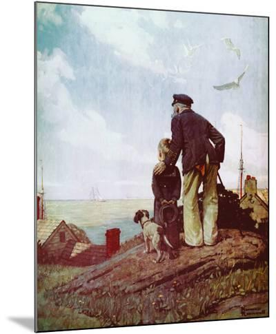 Outward Bound-Norman Rockwell-Mounted Print