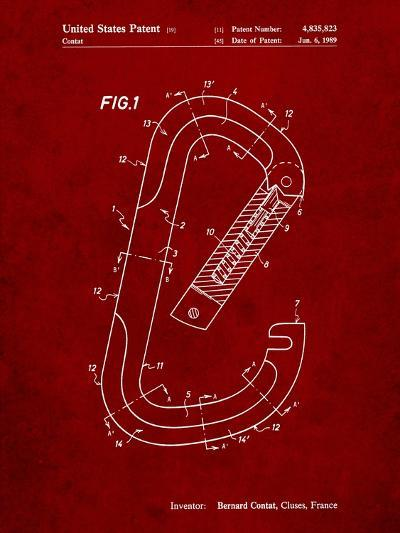 Oval Carabiner Patent-Cole Borders-Art Print