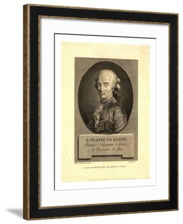 Oval Head-And-Shoulders Portrait of French Balloonist Jean-François Pilâtre De Rozier--Framed Giclee Print