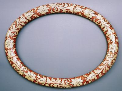 Oval Mirror Frame with Floral Decoration, Ceramic--Giclee Print