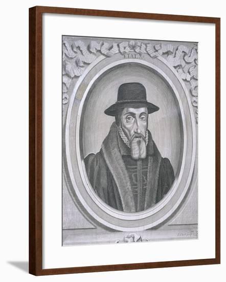 Oval Portrait of John Foxe, C1570-John Sturt-Framed Giclee Print