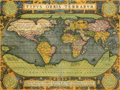 Oval World Map 1598-Abraham Ortelius-Giclee Print