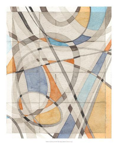 Ovals & Lines II-Nikki Galapon-Art Print