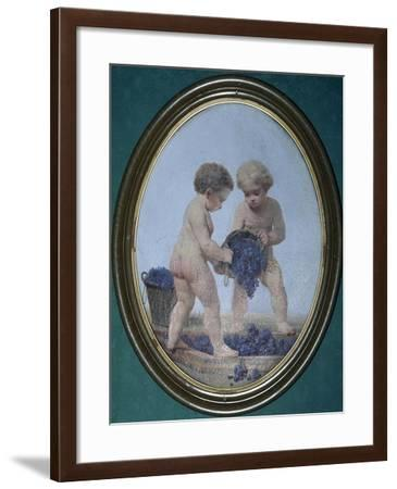 Ovals Painted with Putti Winemakers--Framed Giclee Print