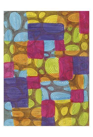 Ovals-Pam Varacek-Art Print