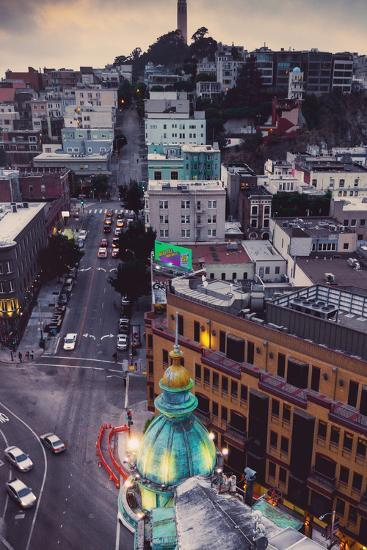 Over North Beach Sentinel Building Coit Tower San Francisco-Vincent James-Photographic Print