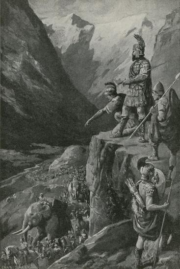 Over the Alps to the Gates of Rome-Charles Mills Sheldon-Giclee Print