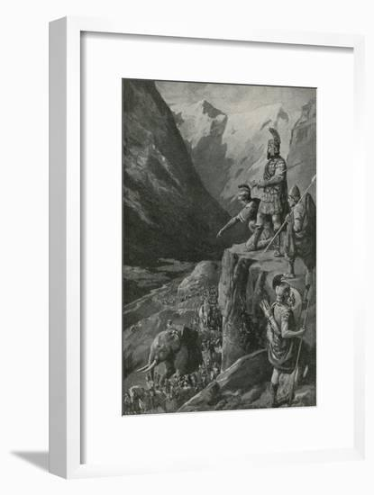 Over the Alps to the Gates of Rome-Charles Mills Sheldon-Framed Giclee Print