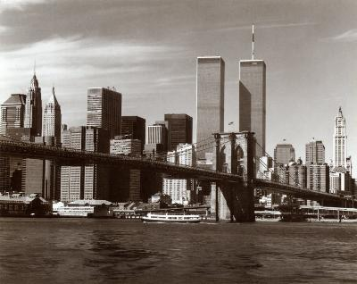 Over the Brooklyn Bridge-Walter Gritsik-Art Print