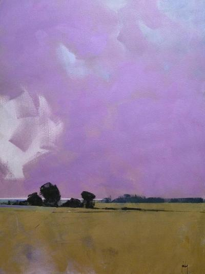 Over the Fields to the Distant Sea-Paul Bailey-Art Print