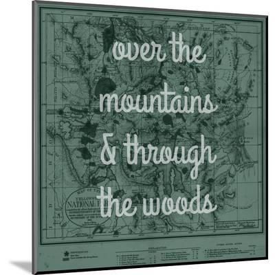Over the Mountains & Through the Woods - 1881, Yellowstone National Park 1881 Map--Mounted Print