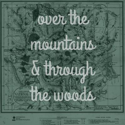 Over the Mountains & Through the Woods - 1881, Yellowstone National Park 1881 Map