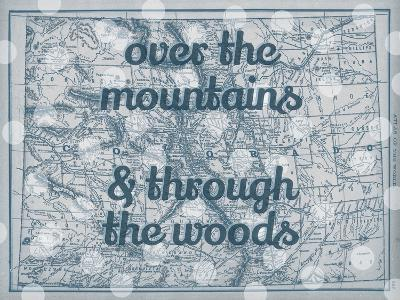 Over the Mountains & Through the Woods - 1890, United States, Colorado, North America, Colorado Map--Giclee Print