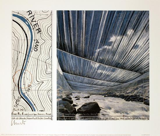 Over the River, project for the Arkansas River-Christo-Collectable Print
