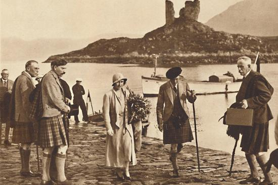 'Over the Sea to Skye' - landing in Skye from the yacht 'Golden Hind', 1933 (1937)-Unknown-Photographic Print