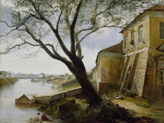 Over the Yauza River in Moscow, 1860-Alexander Pavlovich Popov-Giclee Print