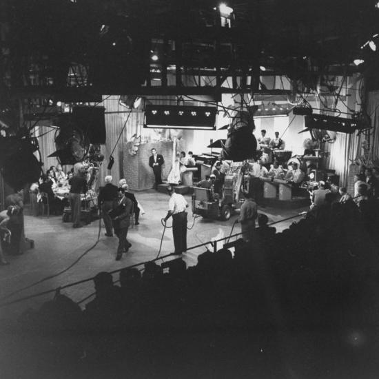"""Overall View of Production Scene from TV Series """"I Love Lucy,"""" Showing the Nightclub-Loomis Dean-Photographic Print"""